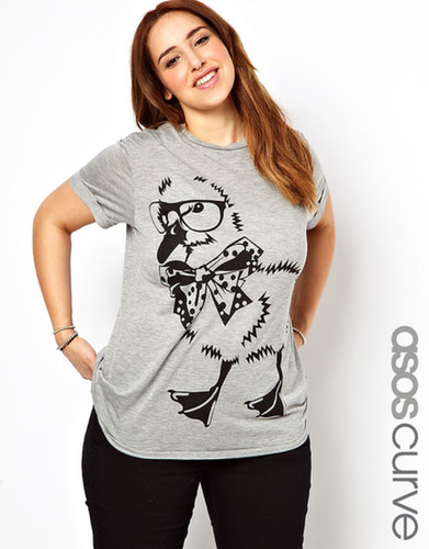 ASOS CURVE Exclusive T-Shirt With Smart Duckling