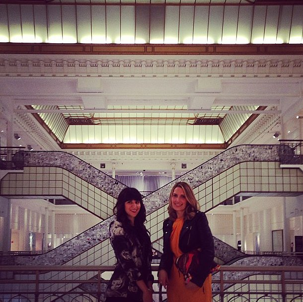 We found the birthplace of shopping, and it's beautiful! We took a break from shows to tour Le Bon Marché, France's oldest department store. See those gorgeous escalators? They were engineered by Gustave Eiffel! Source: Instagram user popsugarfashion
