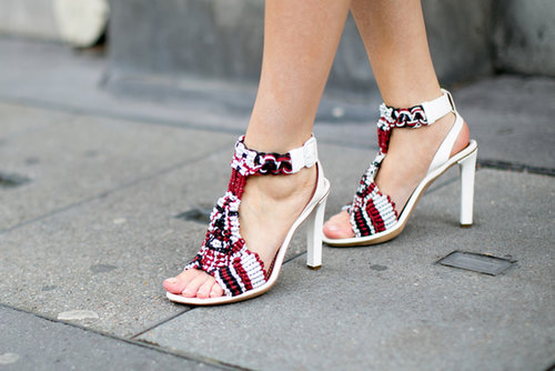 A showstopping pair of Chloé heels.