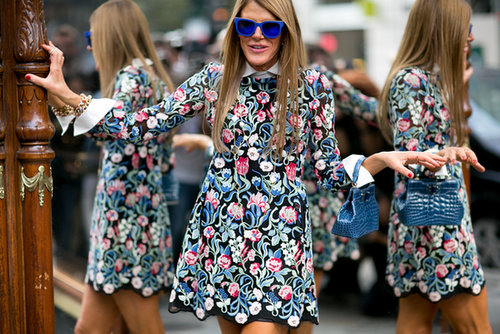 We can't take our eyes off of Anna Dello Russo's shades.