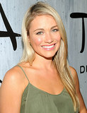 Katrina Bowden kept things simple with a smooth blowout and pink lips.