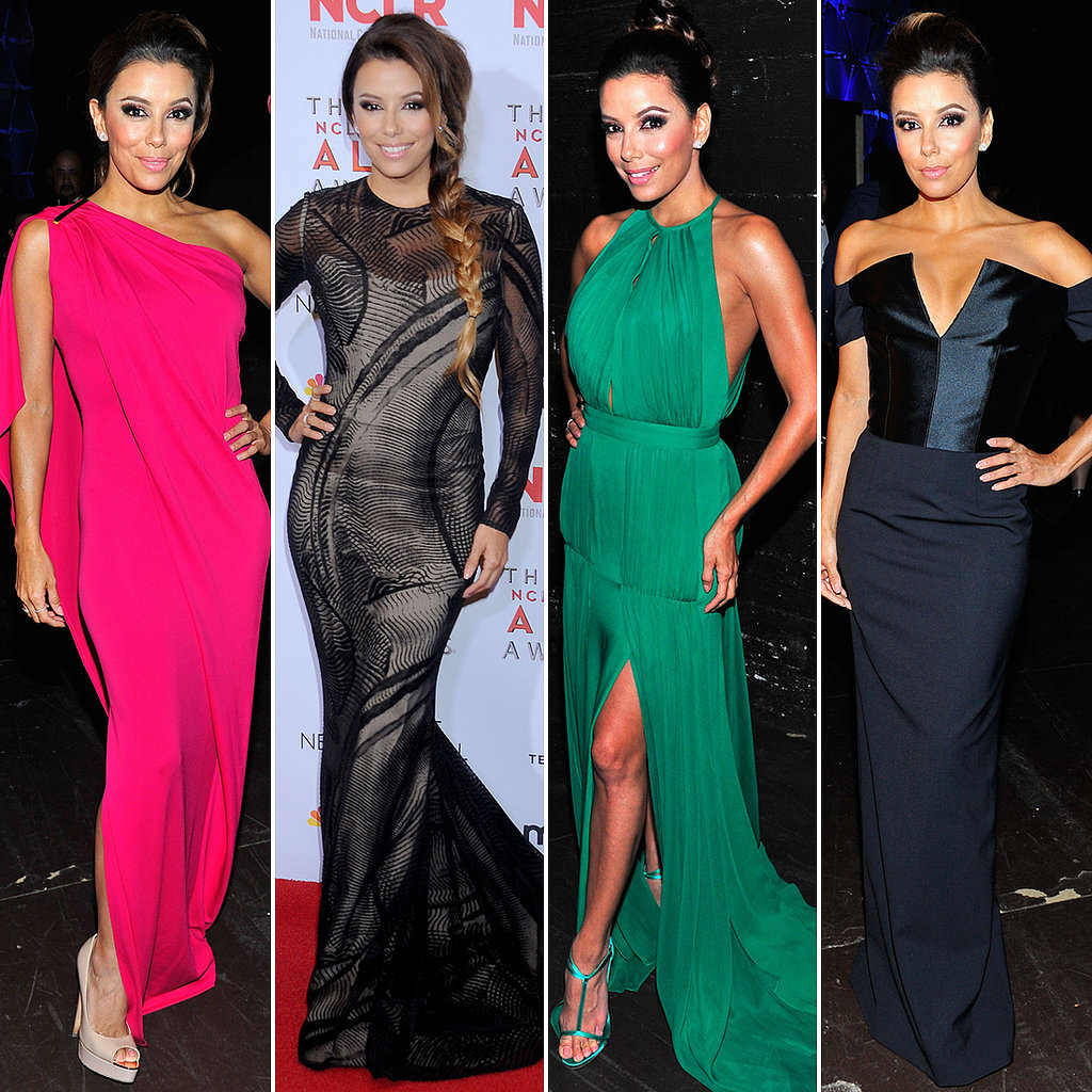 8th Time's the Charm! Eva Longoria's Many Alma Awards Dresses