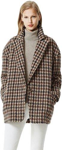 Danvey Coat In Lowell Wool Blend