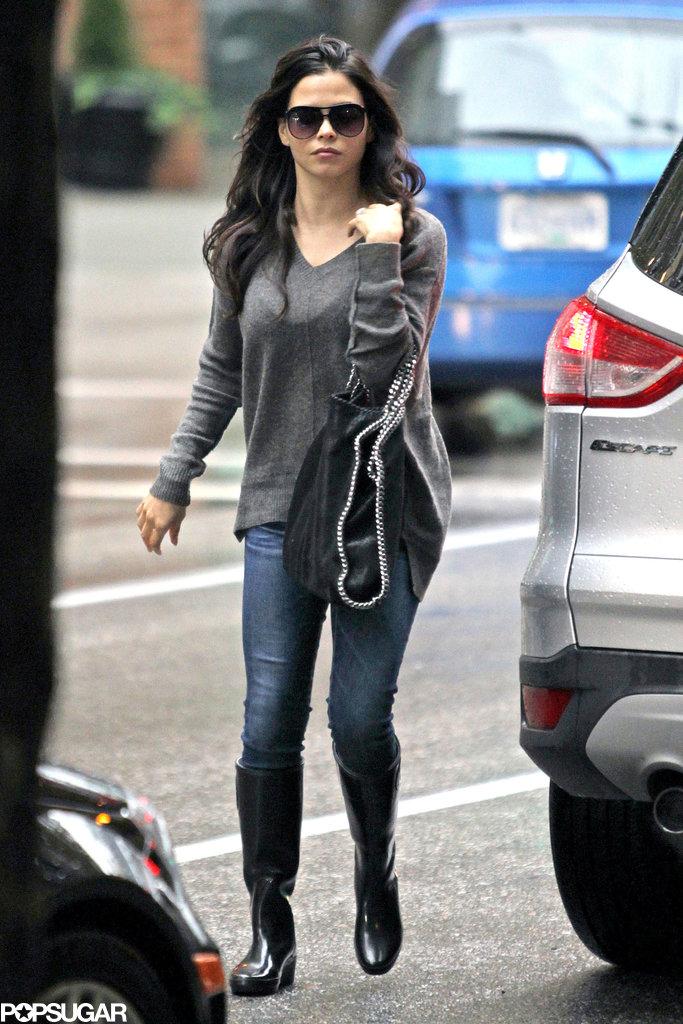 Jenna Dewan walked around downtown Vancouver on Sunday.