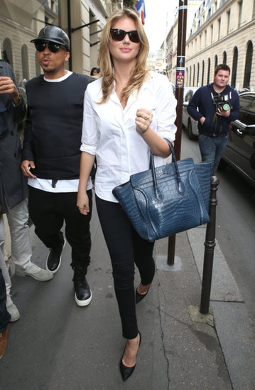 Kate Upton went shopping at Chanel in Paris.