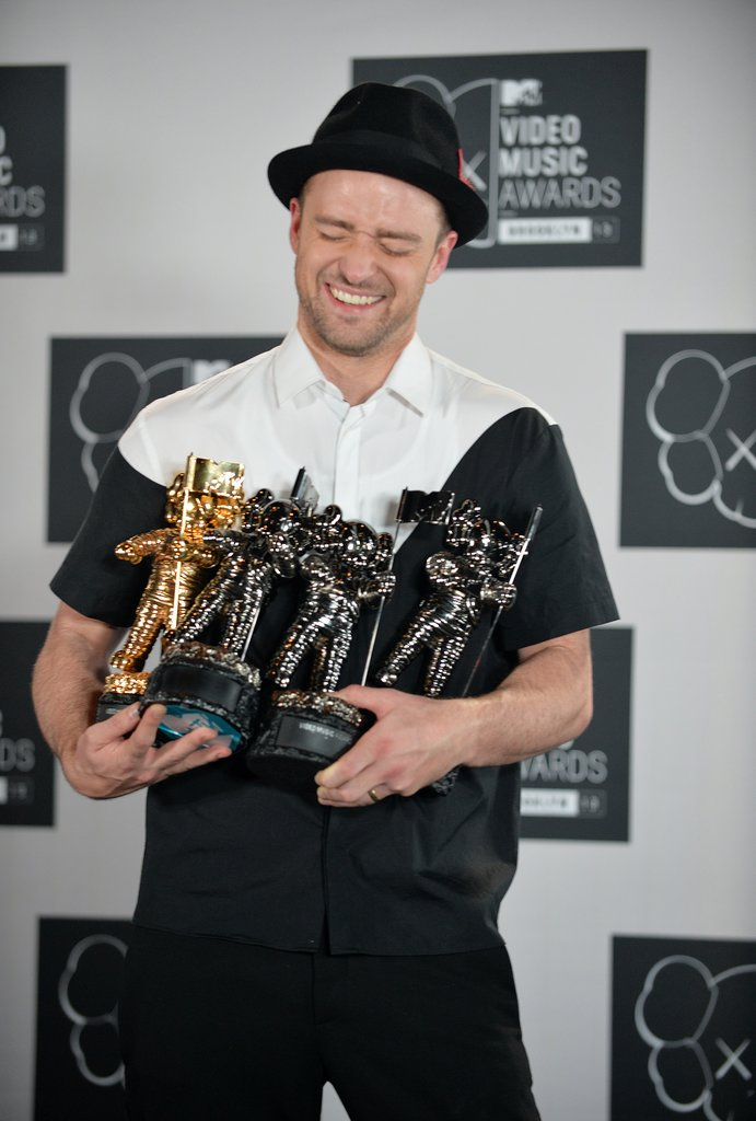 Justin Timberlake dominated the MTV VMAs on Aug. 25, performing for a solid 20 minutes before accepting the Michael Jackson Video Vanguard Award — along with three other awards.