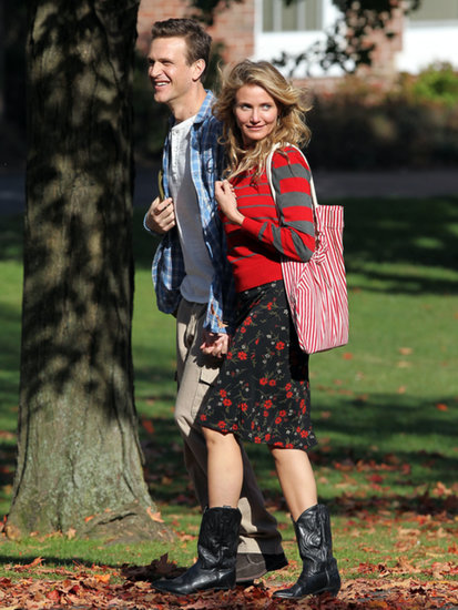 Cameron Diaz and Jason Segel held hands while shooting scenes for Sex Tape in the Boston area.