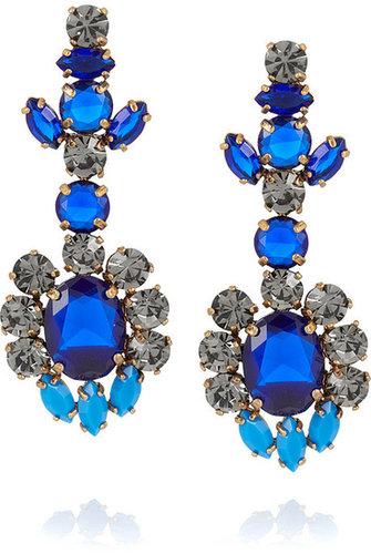 J.Crew Flower drop earrings