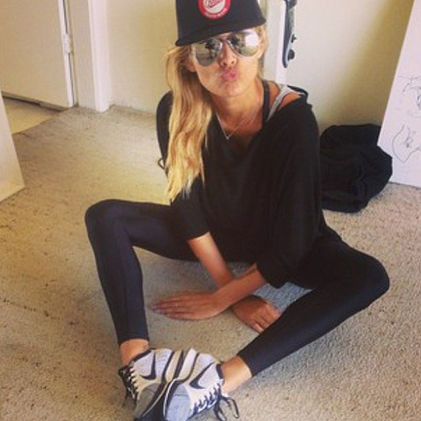 Cheyenne Tozzi looking super cute in her workout gear. Source: Instagram user stylerunner