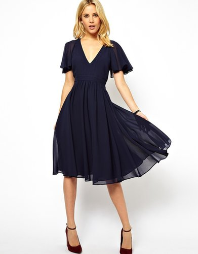 ASOS Midi Frill Sleeve Dress