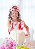 Bellas Bunting Lace and Fabric Crown