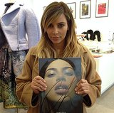 Kim held up a copy of the CR Fashion Book issue with her face on the cover while visiting the Colette store in Paris. Source: Instagram user colettestore