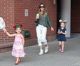 Sarah Jessica Parker brought her twins, Tabitha and Loretta Broderick, to school in NYC.