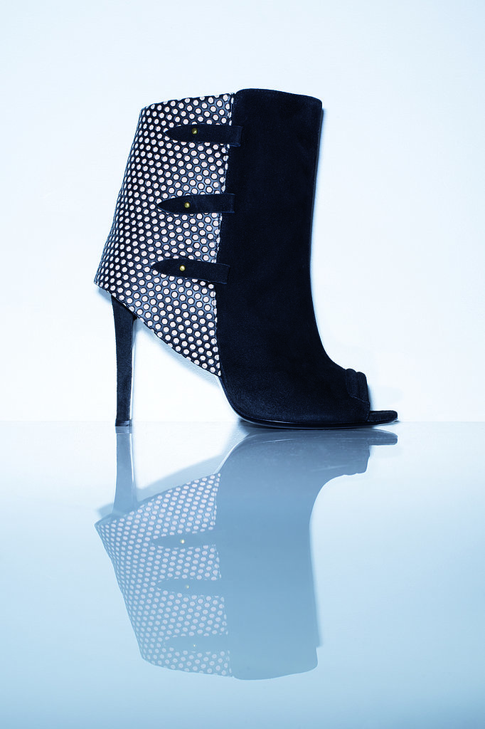 The Mili Boots in perforated nude calfskin Photo courtesy of Jerome Dreyfuss