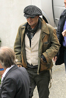 Johnny Depp at Abbey Road Studios in London