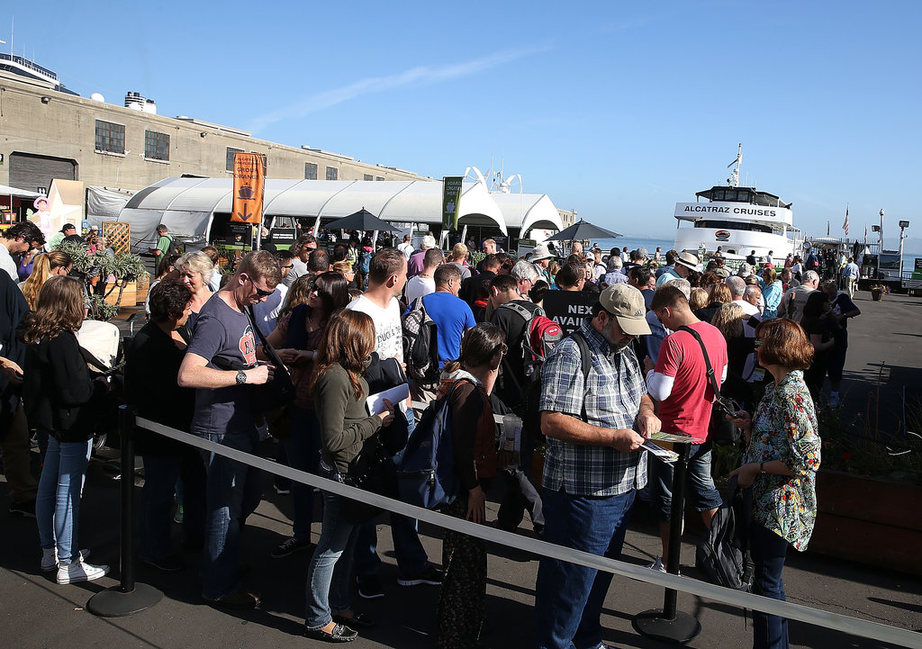 People who had already purchased tickets to San Francisco's Alcatraz lined up to get their money back.