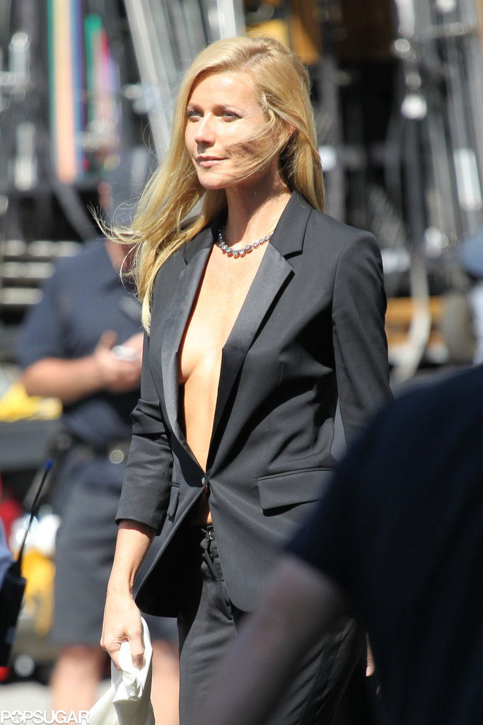 Gwyneth Paltrow filmed a Hugo Boss ad campaign.