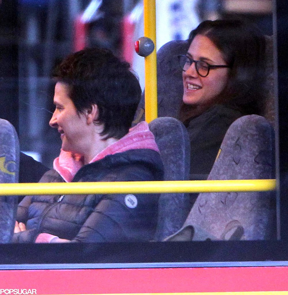 Kristen Stewart filmed a bus scene with Juliette Binoche.