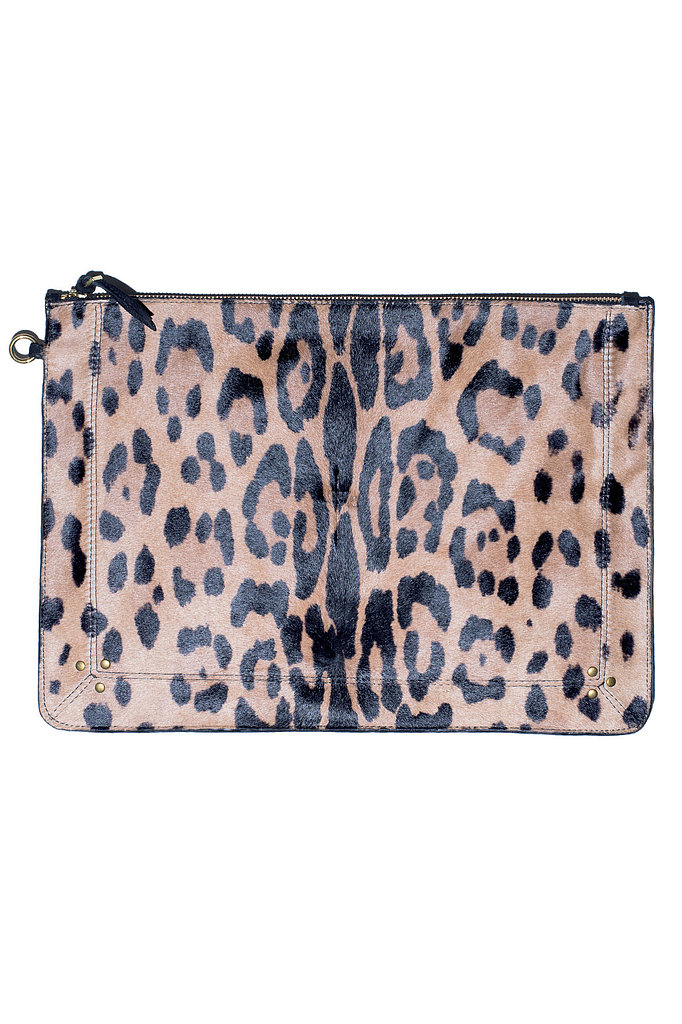 The X-Large Popoche Clutch in leopard calfskin Photo courtesy of Jerome Dreyfuss