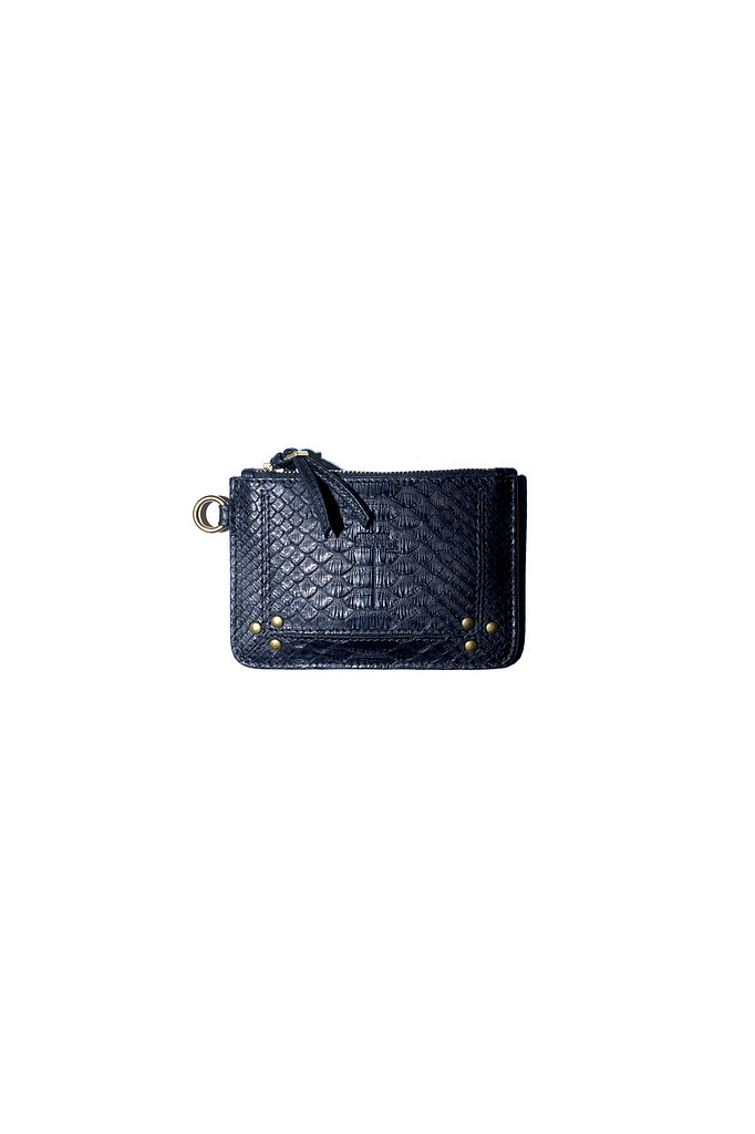 The X-Small Popoche Wallet in black python Photo courtesy of Jerome Dreyfuss