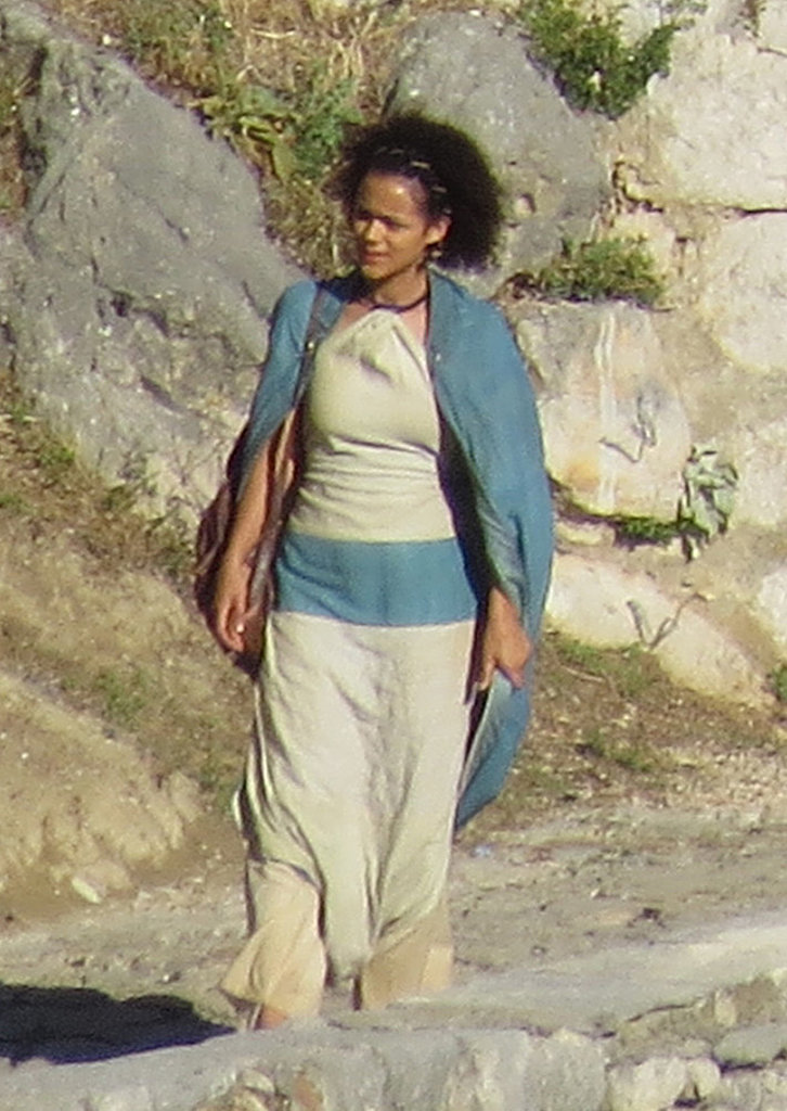 Nathalie Emmanuel as Missandei on the Game of Thrones set.