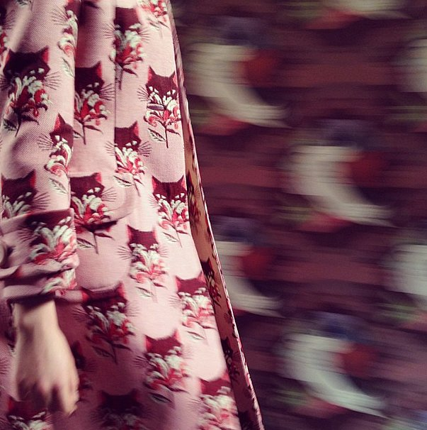 We got print happy at Miu Miu. This jacket? Meow Meow. Source: Instagram user popsugarfashion
