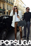 Miranda Kerr went shopping in Paris.