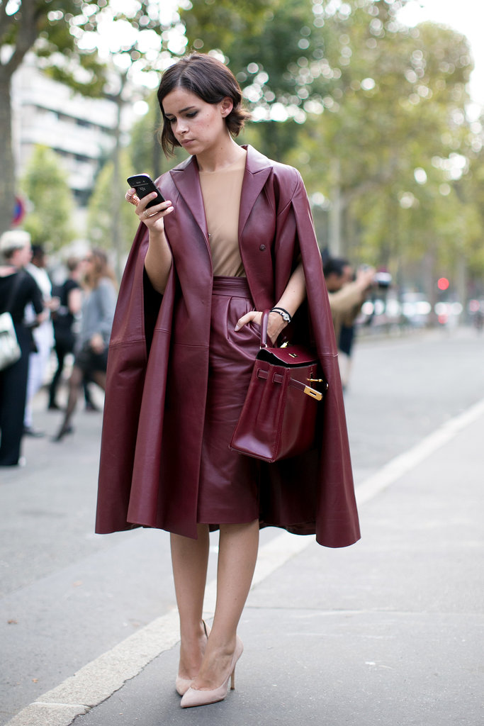 Miroslava Duma was a poster child for one of our favorite Fall hues.
