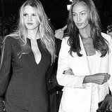 Lara Stone and Joan Smalls did Riccardo Tisci proud in his ensembles. Source: Instagram user riccardotisci17