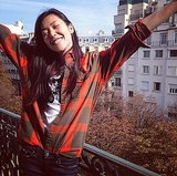 Between shows, model Liu Wen tooks some time to enjoy the view. Source: Instagram user liuwenlw