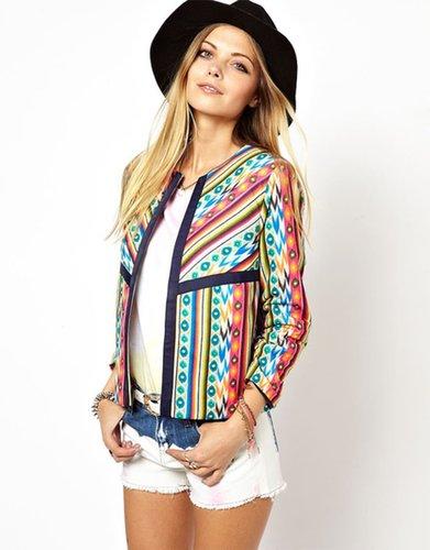 ASOS Jacket in Bright Mixed Print