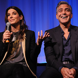 George Clooney and Sandra Bullock in NYC