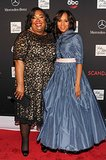 Scandal creator Shonda Rhimes and Kerry Washington met up on the red carpet.