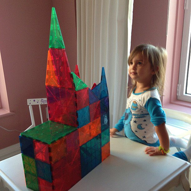 Arabella Kushner proved that building is in her genes with her Magna-Tiles creation! Source: Instagram user ivankatrump