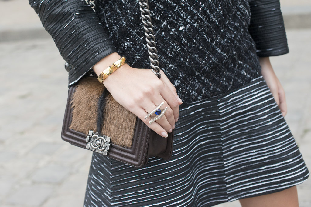 It's all about the texture for this little Chanel.
