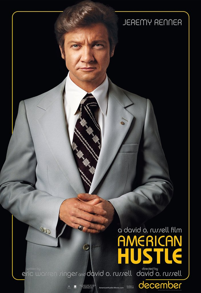 Jeremy Renner in American Hustle.