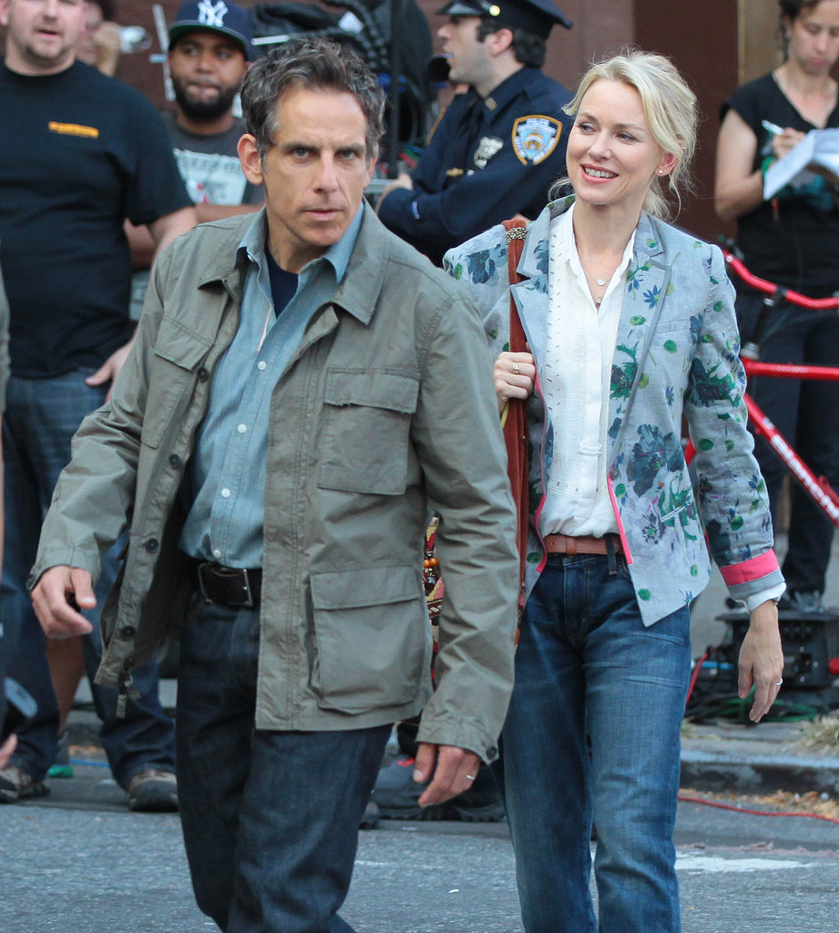 Naomi Watts and Ben Stiller continued their work on While We're Young on Tuesday in NYC.