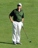 On August 20, 2013, Michel Douglas got in a few rounds of golf while on vacation in Porto Cervo.