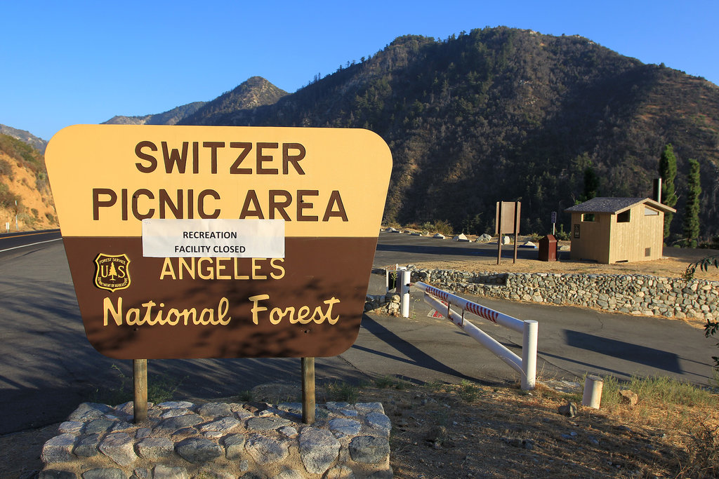 The Angeles National Forest was closed to visitors in the wake of the shutdown.