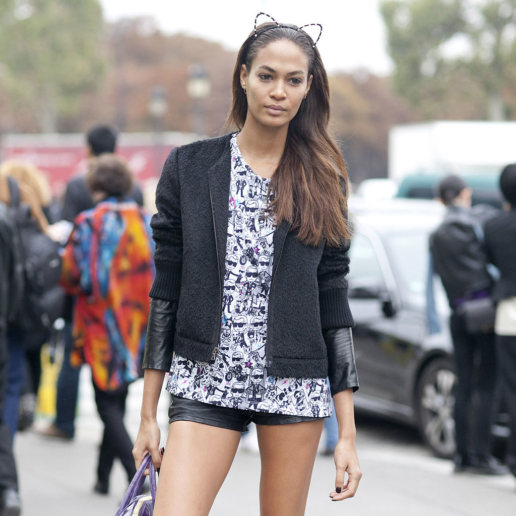 Model Street Style Paris Fashion Week Spring 2014 Pictures Popsugar Fashion