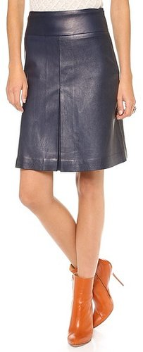 Diane von furstenberg Betsey Leather Skirt