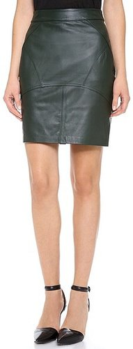 T by alexander wang Lightweight Leather Skirt