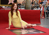Julianne Moore posed with her star on the Hollywood Walk of Fame.