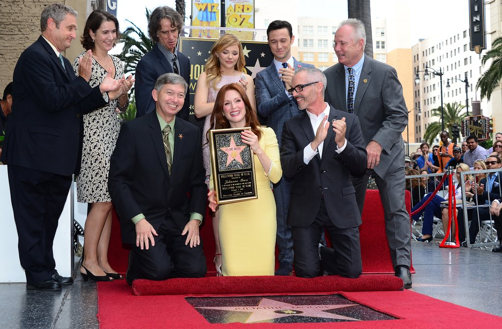 Julianne Moore received a star on the Hollywood Walk of Fame.