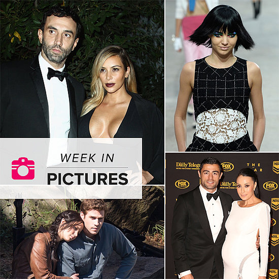 The Week in Pictures: Kim Busts Out in Paris, Jennifer and Liam Shoot Mockingjay & More!