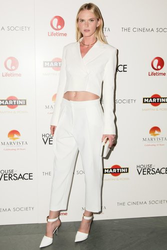 Anne V was white-hot in Rachel Zoe Collection and Jennifer Fisher jewels at Lifetime's MoMA screening of House of Versace.