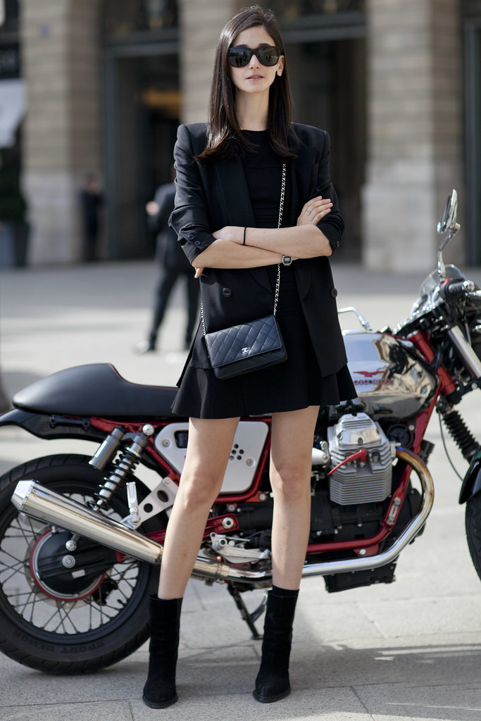 An all-black look isn't just for New York City — it looks equally chic in Paris.