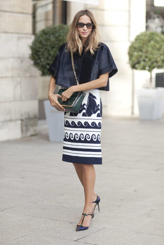 A bold pencil skirt takes the cake.