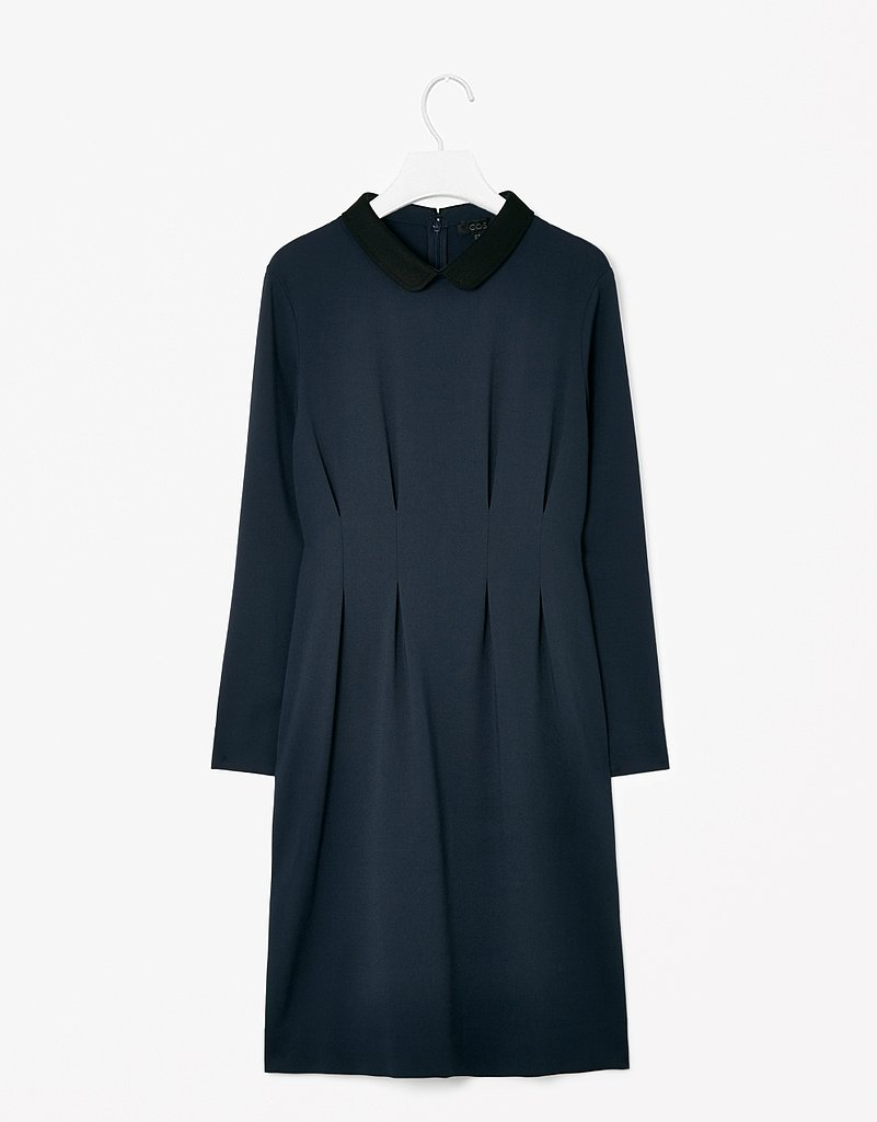 Tailoring that's too good to pass up? This proper navy dress ($143) that comes together at your true waist would be a very smart buy.
