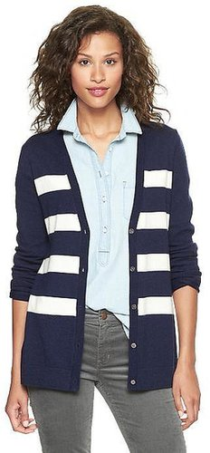 Eversoft striped cardigan